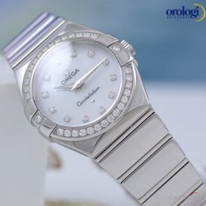 Omega Constellation 27mm Steel and Diamonds  ref 1231527 123.15.27.60.55.003 74151