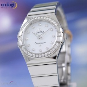Omega Constellation 27mm Steel and Diamonds  ref 1231527 123.15.27.60.55.003 74147